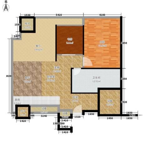 天津环球金融中心2室0厅1卫0厨127.00㎡户型图