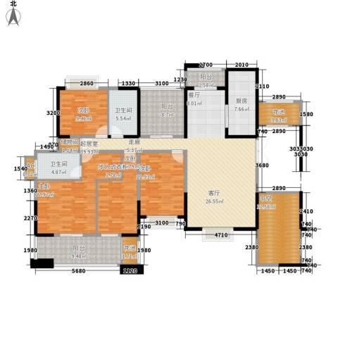 省农业厅宿舍4室0厅2卫1厨211.00㎡户型图