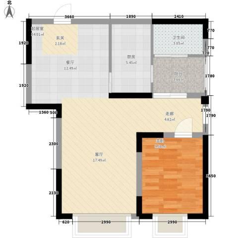 童话里二期1室0厅1卫1厨82.00㎡户型图