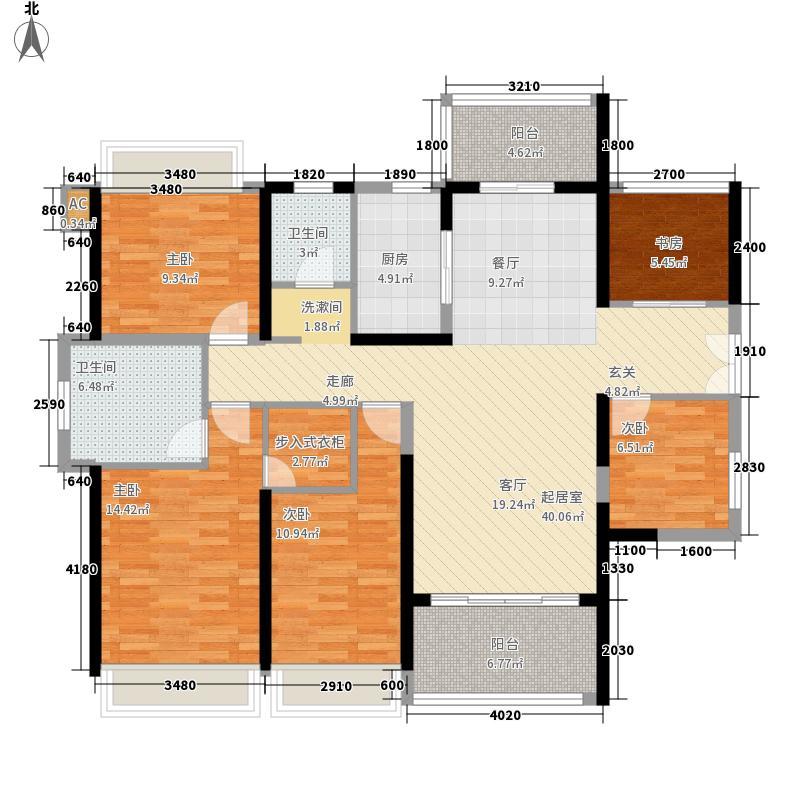 光明大第户型图3栋D户型132平 5室2厅2卫1厨