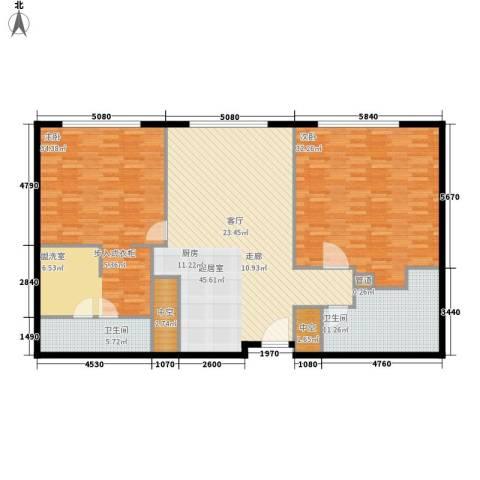 天津中心2室0厅2卫0厨145.00㎡户型图