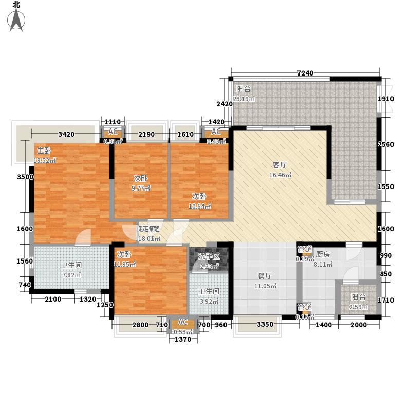 新鸿基悦城176.00㎡二期C户型4室2厅2卫1厨