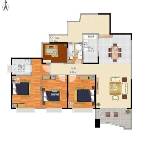 天湖御林湾3室1厅1卫1厨163.00㎡户型图