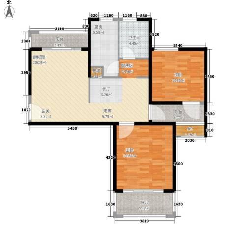 中信和平家园2室0厅1卫1厨89.00㎡户型图