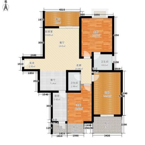 榕青无界3室0厅2卫1厨126.00㎡户型图