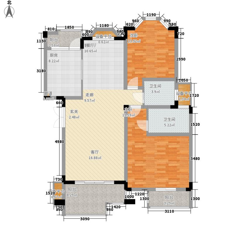 银丽高尔夫公寓121.52㎡银丽高尔夫公寓户型图239#,240#,241#,242#B户型2室2厅2卫1厨户型2室2厅2卫1厨