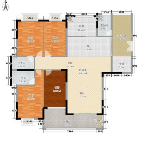 海港新城4室0厅3卫1厨191.93㎡户型图