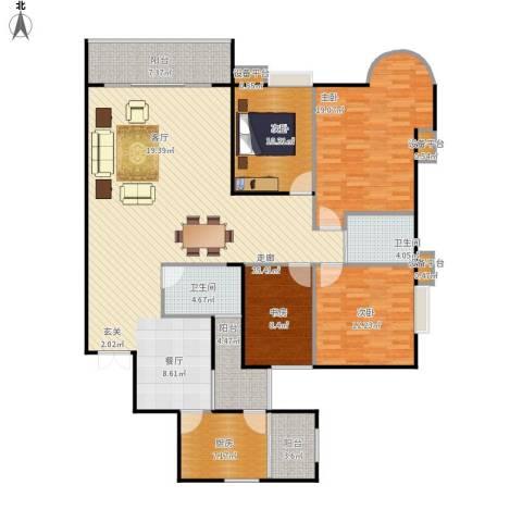 花样年华4室1厅2卫1厨186.00㎡户型图