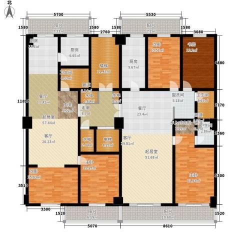怡华苑4室0厅3卫2厨259.98㎡户型图