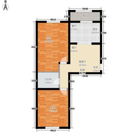 东城花园2室1厅1卫0厨82.88㎡户型图