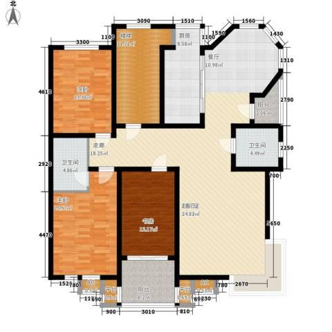 碧波康桥3室0厅2卫1厨155.00㎡户型图