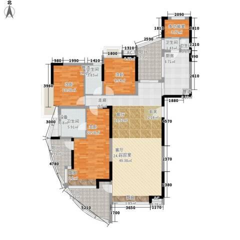 圣莫丽斯3室0厅4卫1厨156.00㎡户型图
