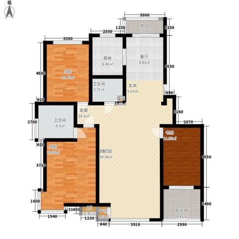 碧波康桥3室0厅2卫1厨162.00㎡户型图