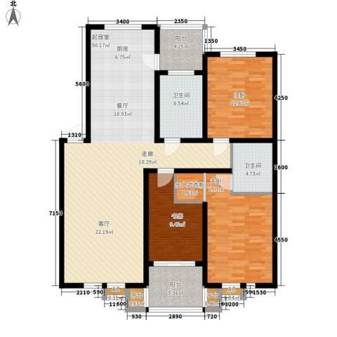 碧波康桥3室0厅2卫0厨142.00㎡户型图