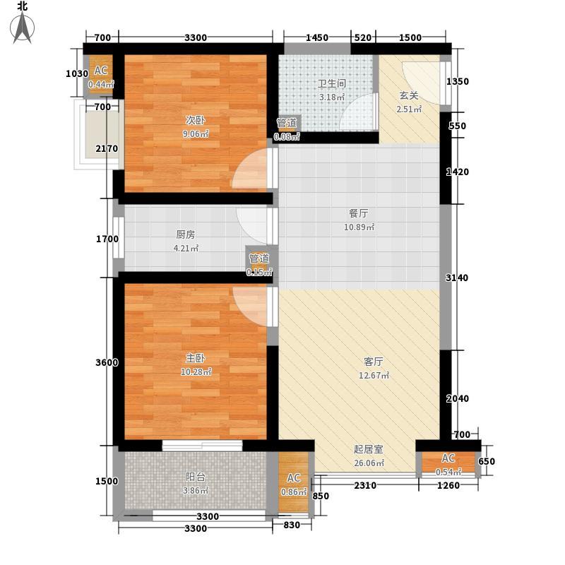 宏府・麒麟山85.18㎡宏府・麒麟山户型图9号楼05户型2室2厅1卫1厨户型2室2厅1卫1厨
