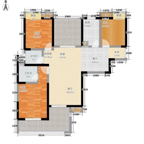 城市驿站3室0厅2卫1厨109.39㎡户型图