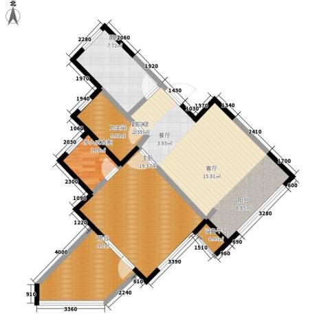 晋中万科・朗润园1室0厅1卫1厨85.00㎡户型图