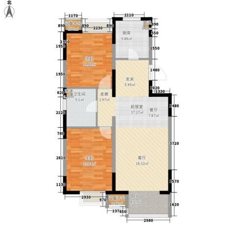 晋中万科・朗润园2室0厅1卫1厨85.00㎡户型图