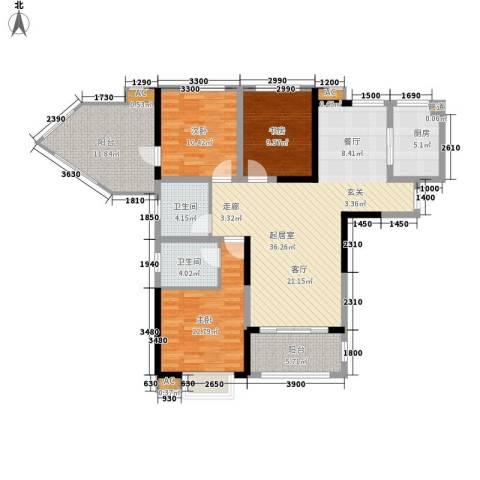 安大磬苑3室0厅2卫1厨145.00㎡户型图