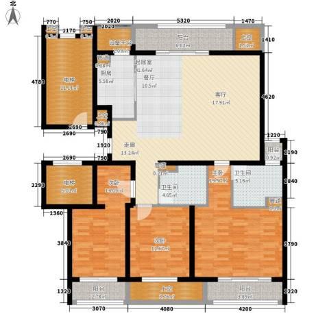 敬业乐府3室0厅2卫1厨163.78㎡户型图