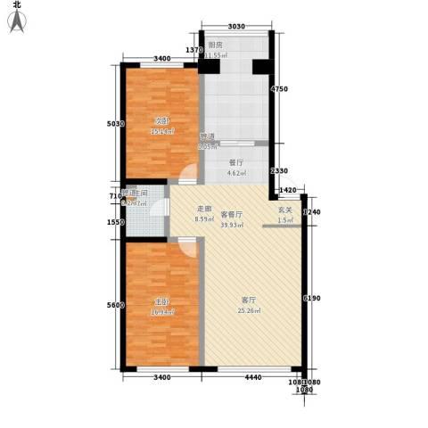 天鸿嘉园2室1厅1卫1厨124.00㎡户型图