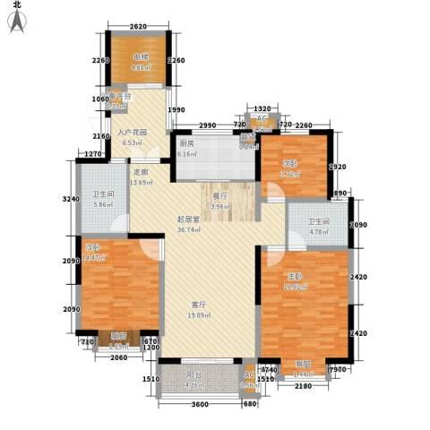 汉城国际3室0厅2卫1厨132.00㎡户型图