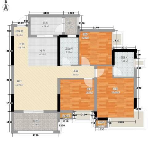 蓝色星空3室0厅2卫1厨121.00㎡户型图