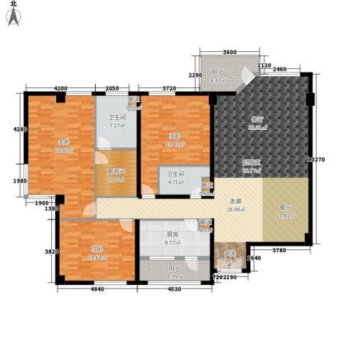 龙柏花苑3室0厅2卫1厨189.00㎡户型图