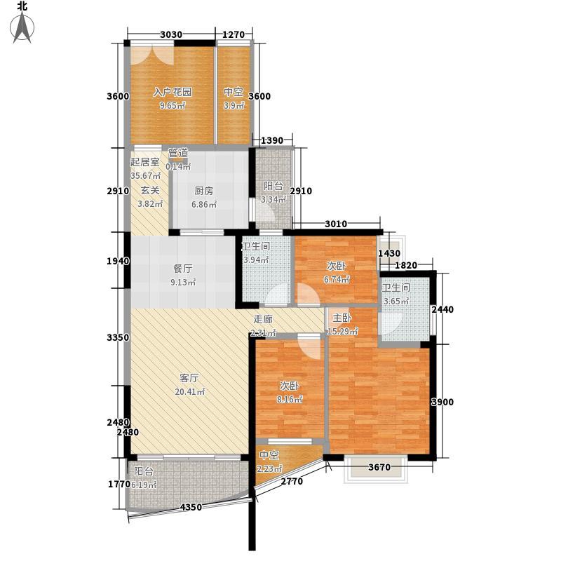 香山美树苑120.92㎡香山美树苑户型图7栋D户型3室2厅2卫户型3室2厅2卫