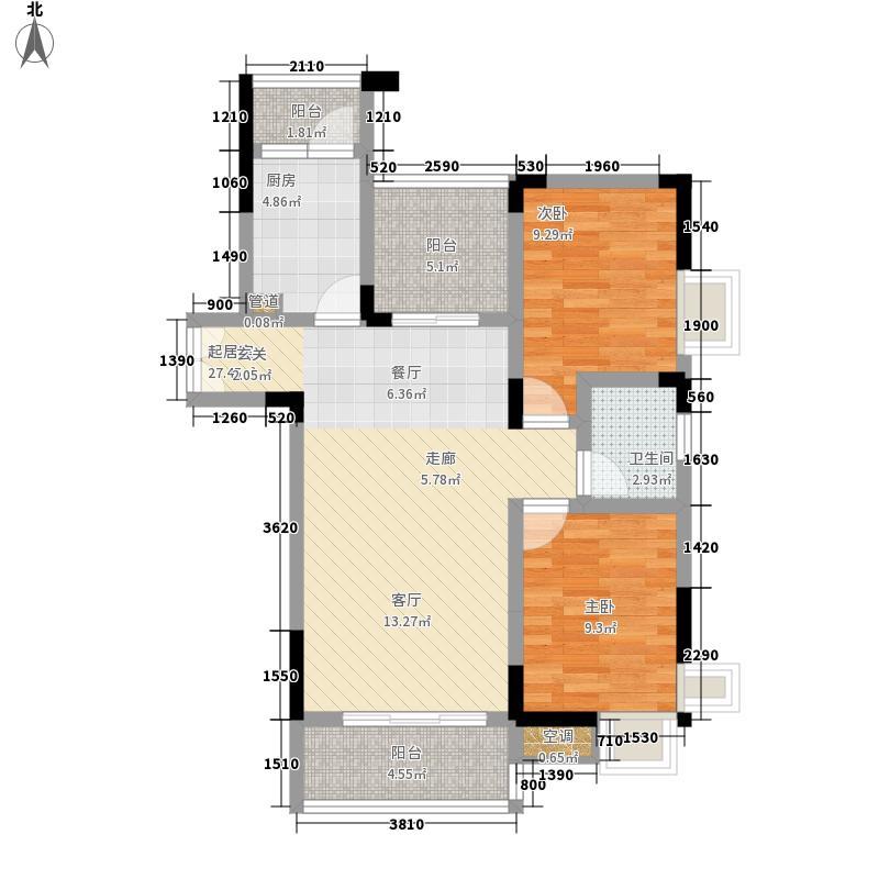 金鸟花园78.00㎡金鸟花园2室户型2室
