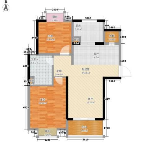 汉城国际2室0厅1卫1厨99.00㎡户型图