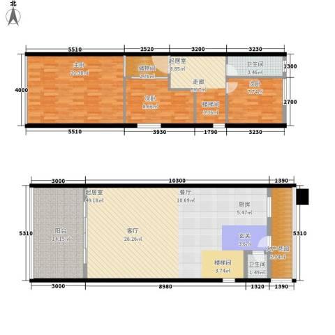 华悦柠檬圈子3室0厅2卫0厨170.00㎡户型图