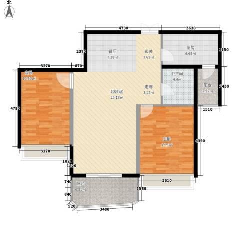 国际中港城2室0厅1卫1厨116.00㎡户型图