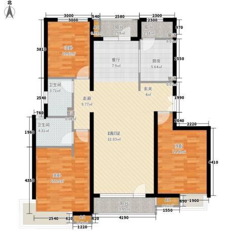 富力城3室0厅2卫1厨147.00㎡户型图