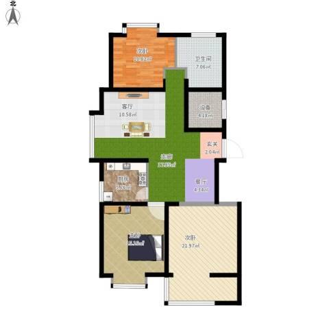 嵛景华城3室1厅1卫1厨140.00㎡户型图