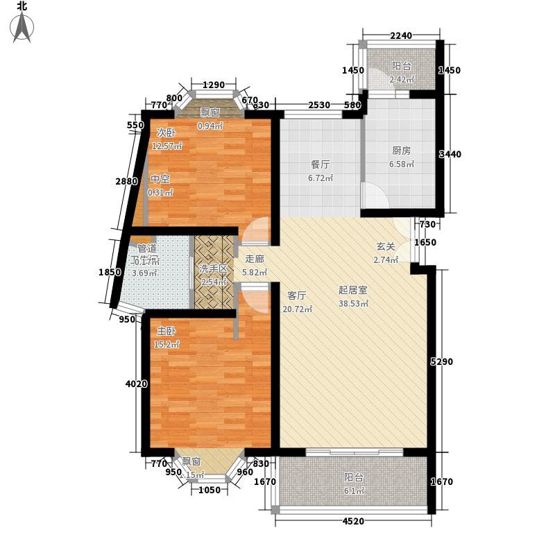 宏润公寓97.98㎡宏润公寓97.98㎡2室2厅1卫1厨户型2室2厅1卫1厨