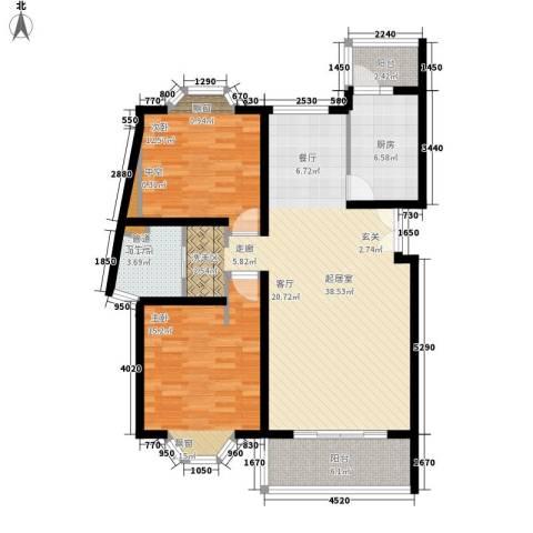 宏润公寓2室0厅1卫1厨98.00㎡户型图