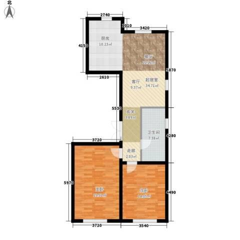 安华美域2室0厅1卫0厨85.00㎡户型图