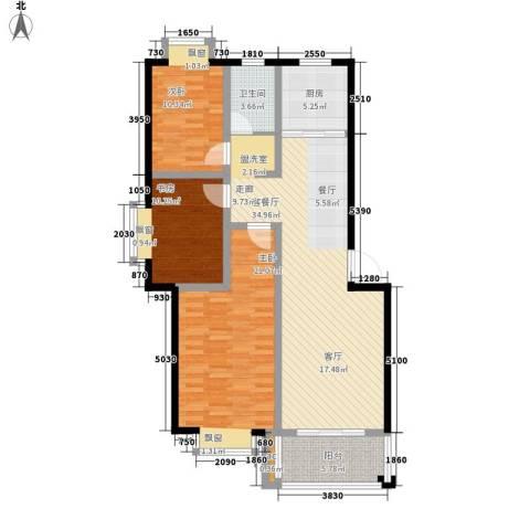 东方明珠花园公寓3室1厅1卫1厨132.00㎡户型图