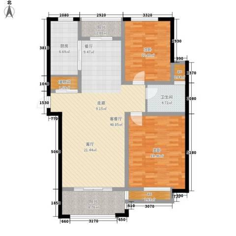 东方明珠花园公寓2室1厅1卫1厨138.00㎡户型图