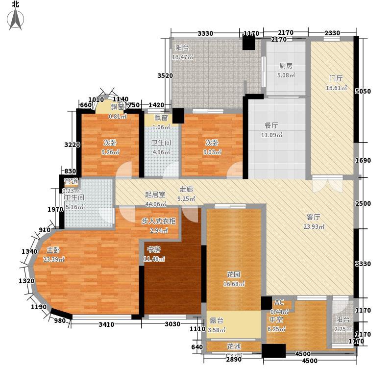 星海岸180.38㎡星海岸户型图1座24层2401单元4室2厅2卫户型4室2厅2卫