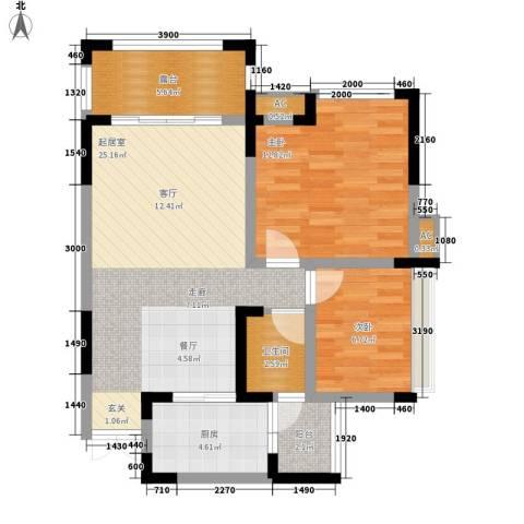 幸乐村小区2室0厅1卫1厨89.00㎡户型图