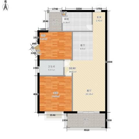 齐鲁世纪园2室1厅1卫1厨114.00㎡户型图