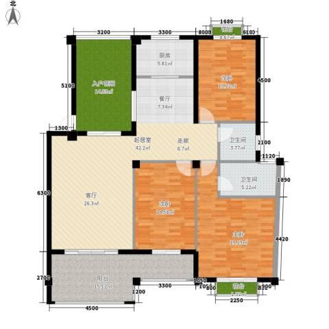 东辰阳光清华3室0厅2卫1厨149.00㎡户型图