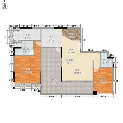 海港新城2室0厅2卫1厨135.00㎡户型图
