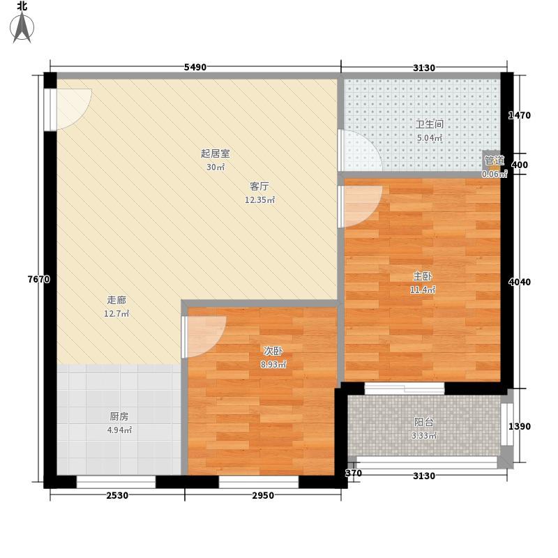 香山花园64.98㎡香山花园户型图F户型2室2厅1卫1厨户型2室2厅1卫1厨