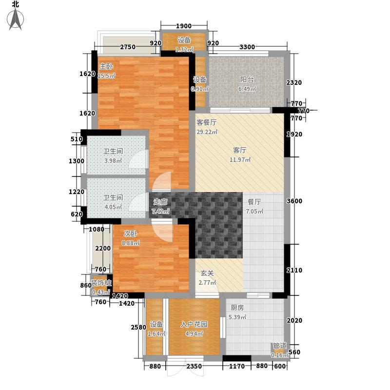 半山公馆二期26、27、28号楼3、4号房户型2室2厅