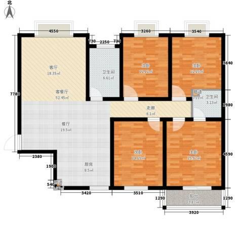 嘉兴青年新城4室1厅2卫0厨135.00㎡户型图