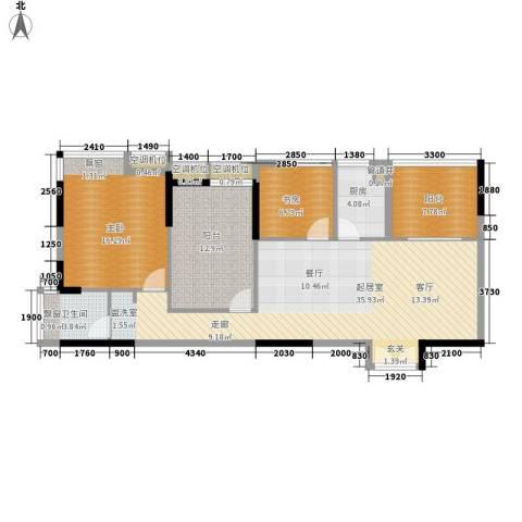 海港新城2室0厅1卫1厨101.00㎡户型图