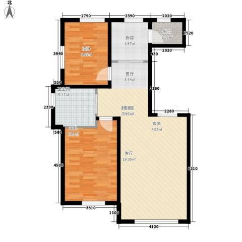 波尔的家2室0厅1卫1厨98.00㎡户型图